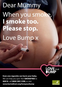 Smoking in Pregnancy A4 Poster Mums